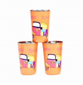 Steel Tumbler Big-Auto Orange ( set of 3 )