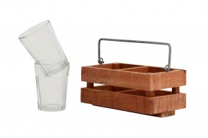 Tapri Glasses - Country Wood Stand