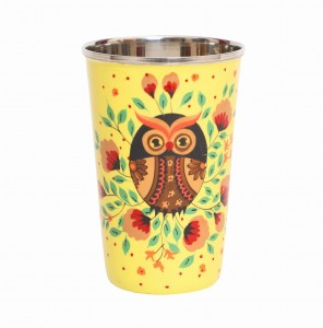 Steel Tumbler Big-Owl Eye Yellow