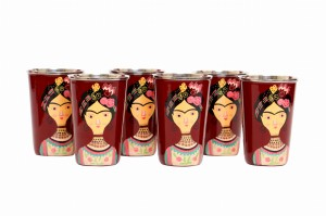 Steel Tumbler Big-Lady Rose Maroon ( set of 6 )