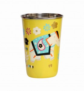 Steel Tumbler Big-ELEPHANT Star-Yellow