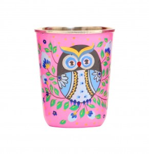 Steel Tumbler Small-Owl Eye Pink
