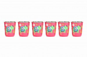 Steel Tumbler Small-ELEPHANT STAR-Pink ( set of 6 )