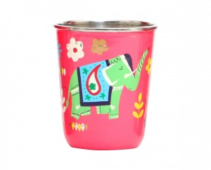 Steel Tumbler Small-ELEPHANT STAR-Pink