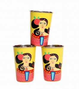 Steel Tumbler Big-Lady Set Yellow ( set of 3 )