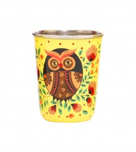 Steel Tumbler Small-Owl Eye Yellow