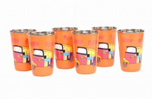 Steel Tumbler Big-Auto Orange ( set of 6 )