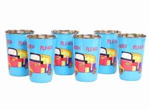 Steel Tumbler Big-Auto Blue ( set of 6 )