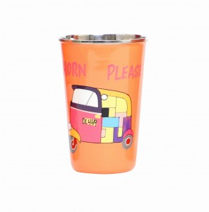 Steel Tumbler Big-Auto Orange