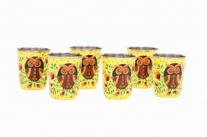Steel Tumbler Small-ELEPHANT STAR-Yellow ( set of 6 )